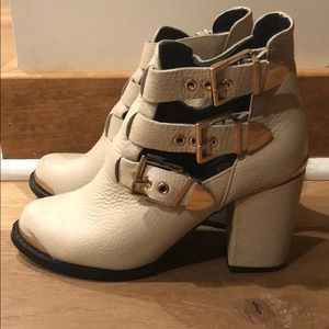 Shoes - Ivory Authentic Leather Booties